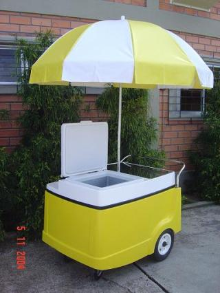 Ice Cream Push Cart With 2 Cuft Freezer